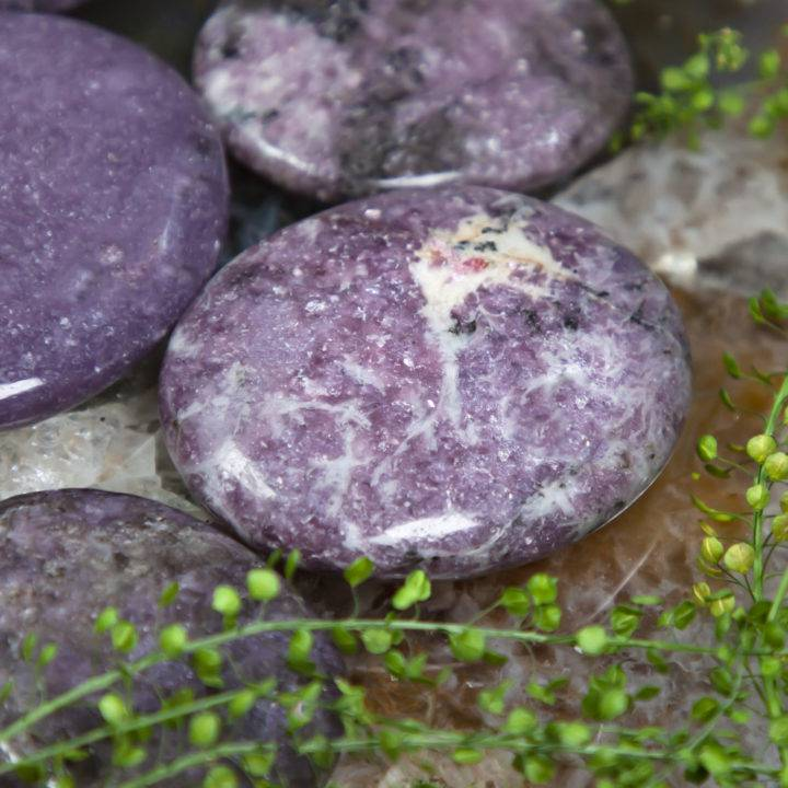 Peace and Positivity Lepidolite Palm Stone