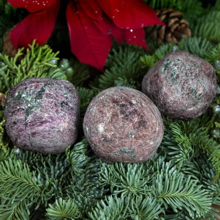 Raw Garnet and Fuchsite Love, Balance, and Healing Magic Ball