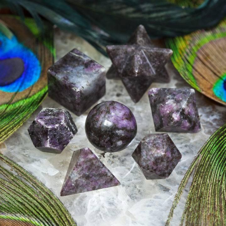Ruby Kyanite Sacred Geometry Set