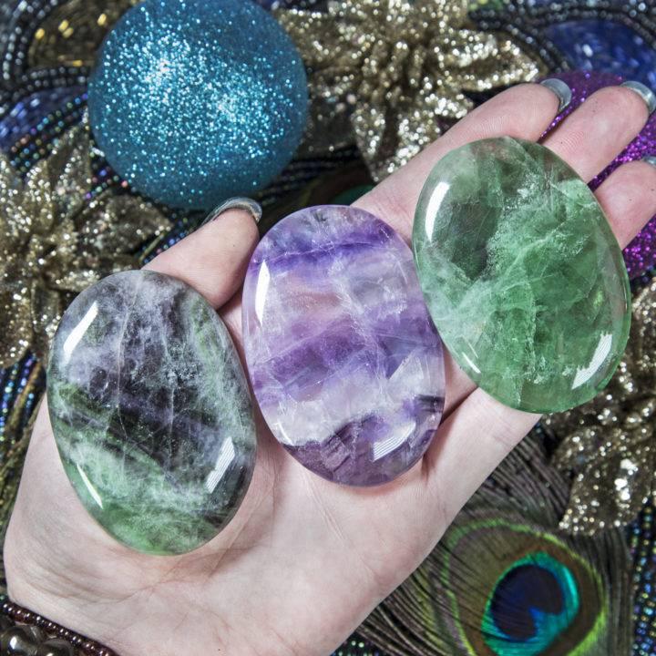 Rainbow Fluorite Palm Stone