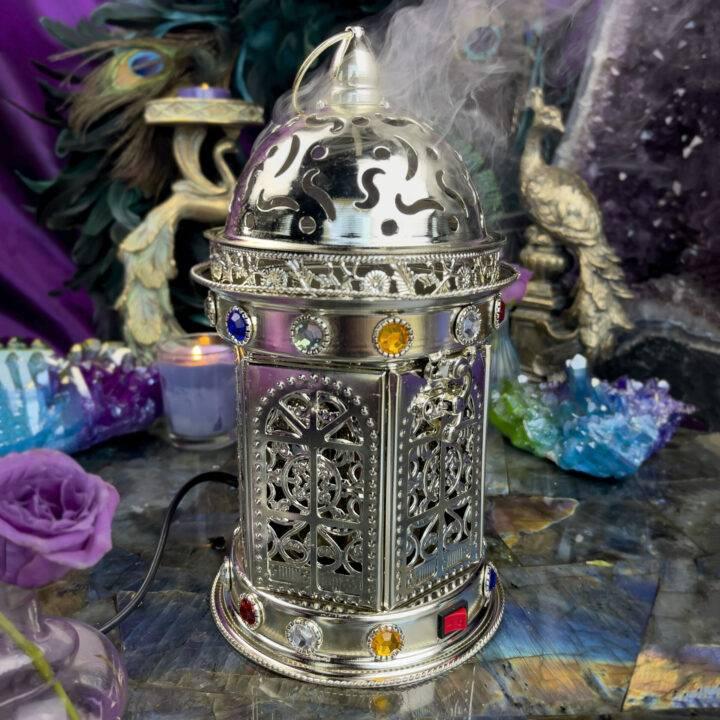 Silver Electric Bakhoor Incense Burner