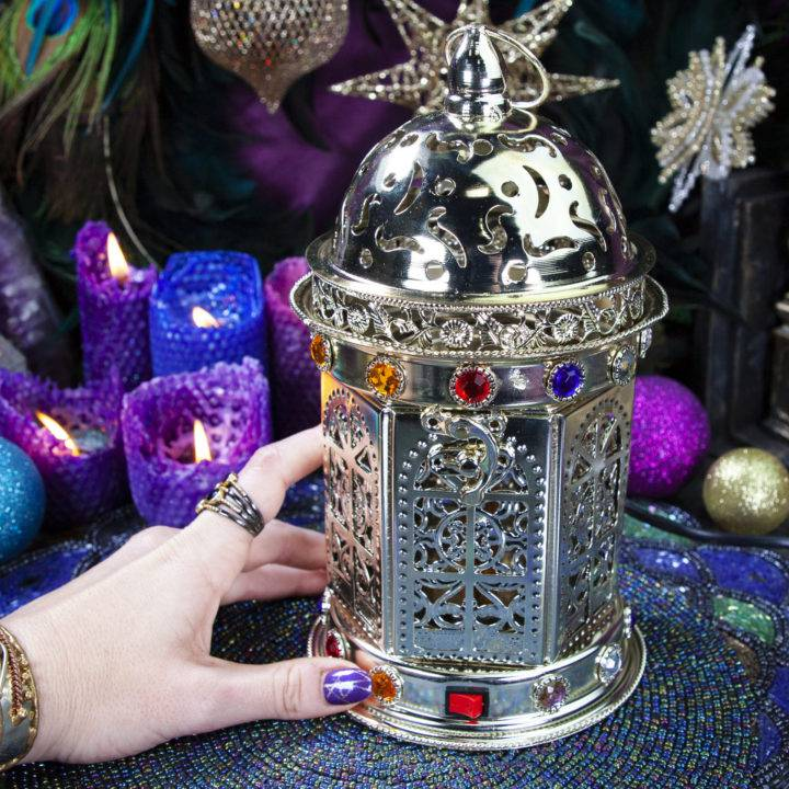 Silver Electric Bakhoor Incense Burner