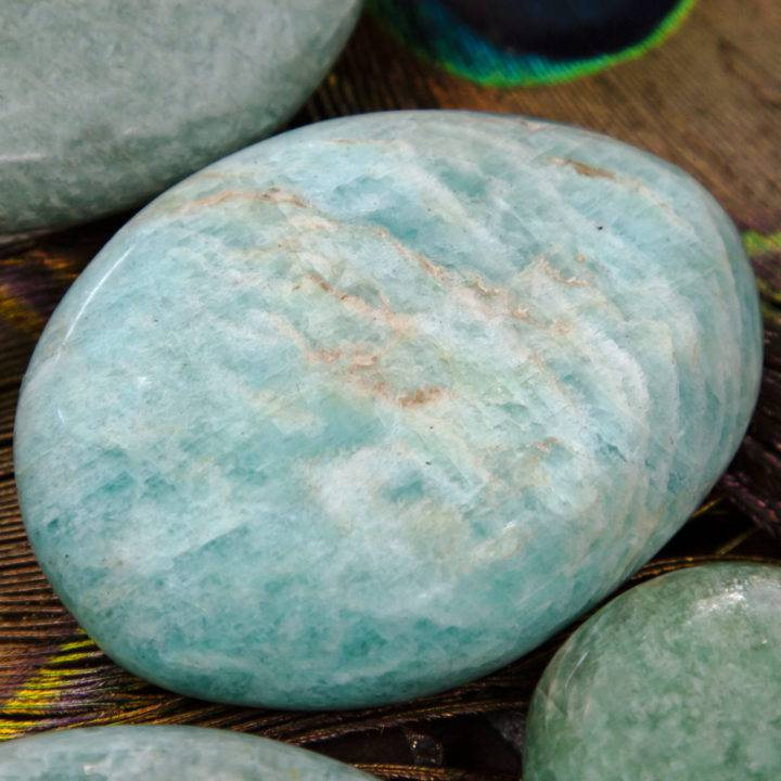 Speak Your Truth Amazonite Palm Stone