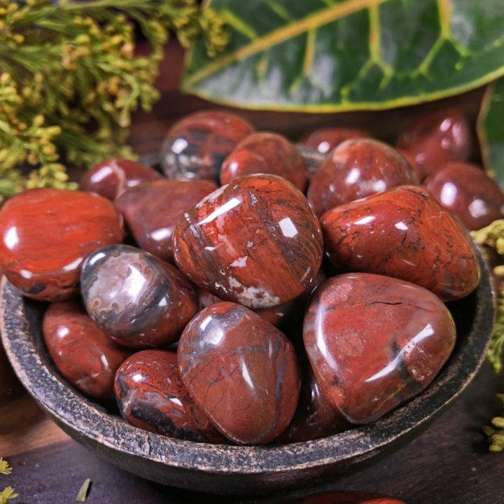 Small Tumbled Red Petrified Wood