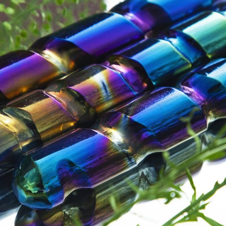 Titanium Aura Selenite Rainbow Wand