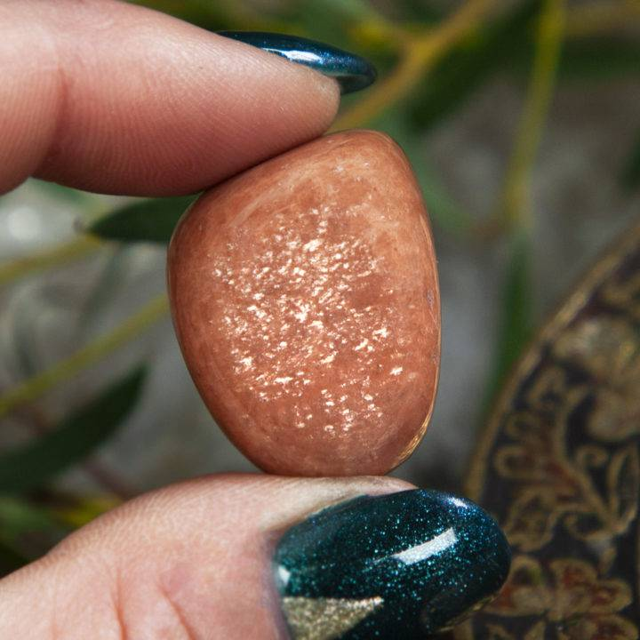 Tumbled Peach Moonstone