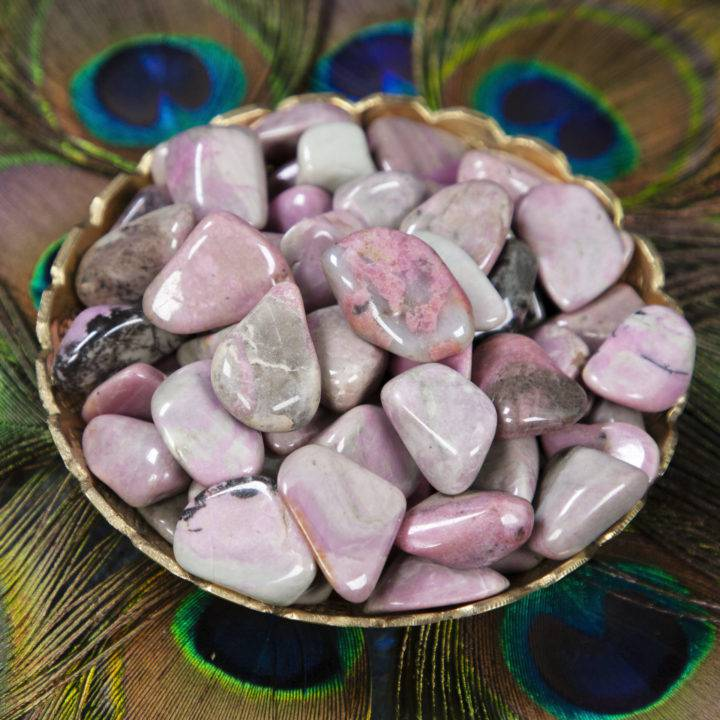 Tumbled Rhodonite