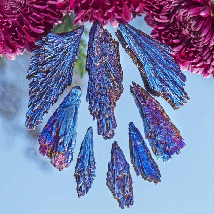 Titanium Aura Black Kyanite Spear