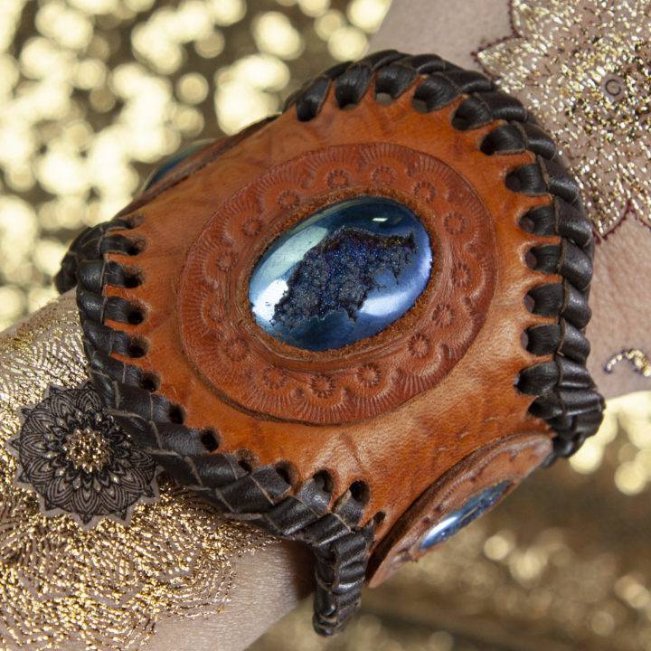 Titanium Aura Druzy Bracelet
