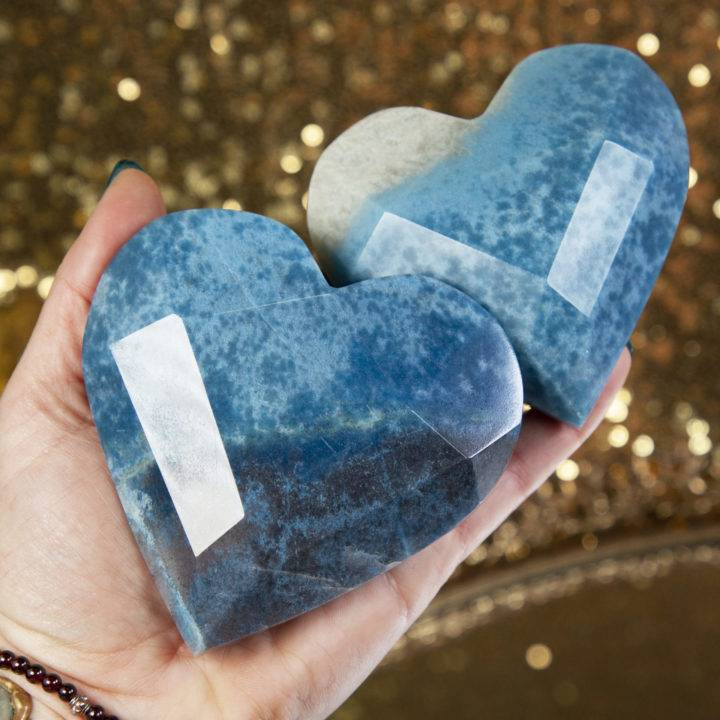 Trolleite Faceted Heart