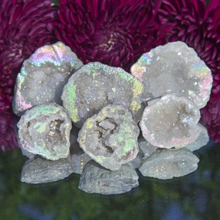 Angel Aura Quartz Geode