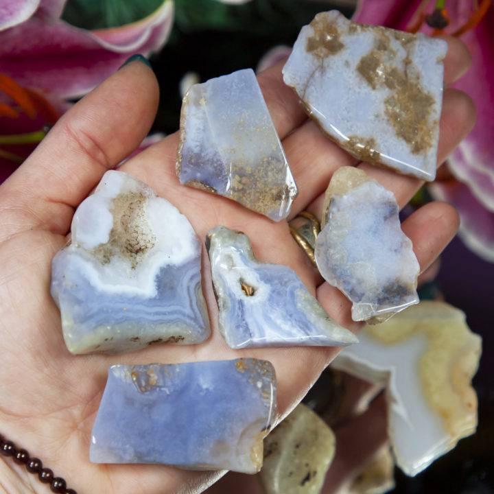 Blue Chalcedony Creativity Bra Stone