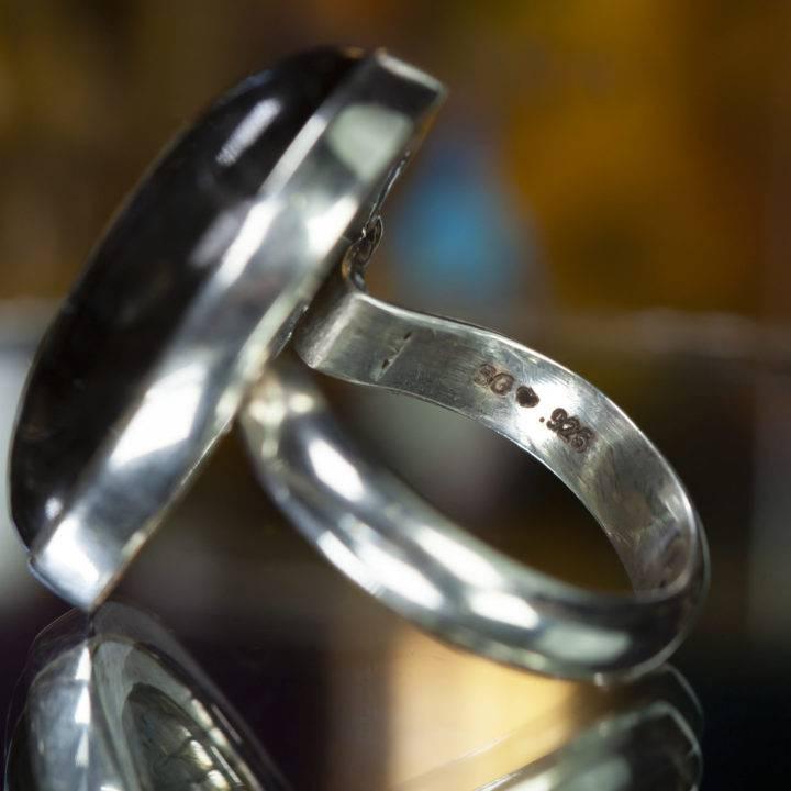 Blue Flash Labradorite Visioning Ring