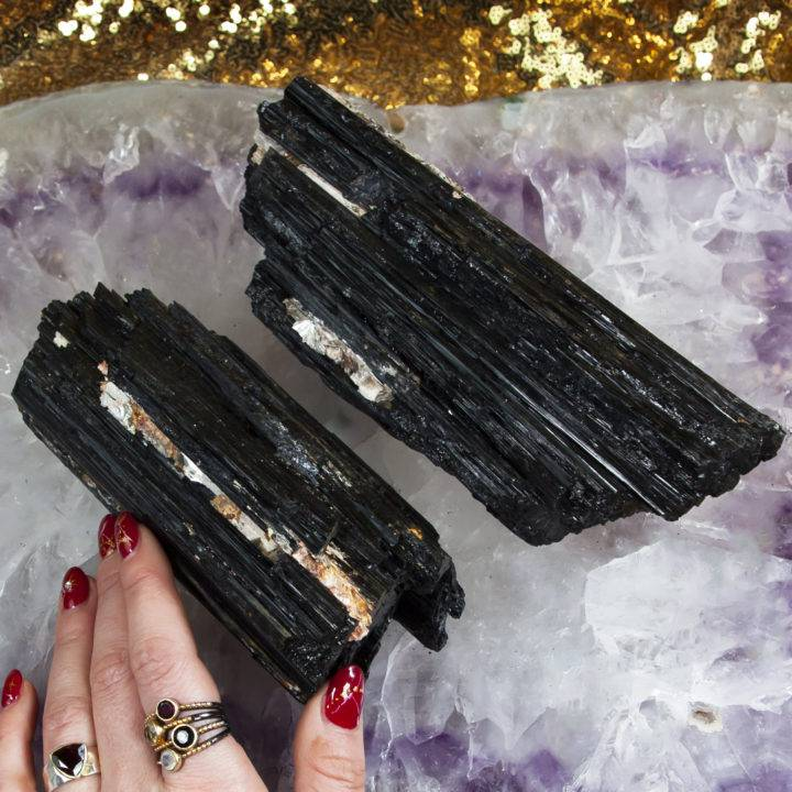 Black Tourmaline Logs