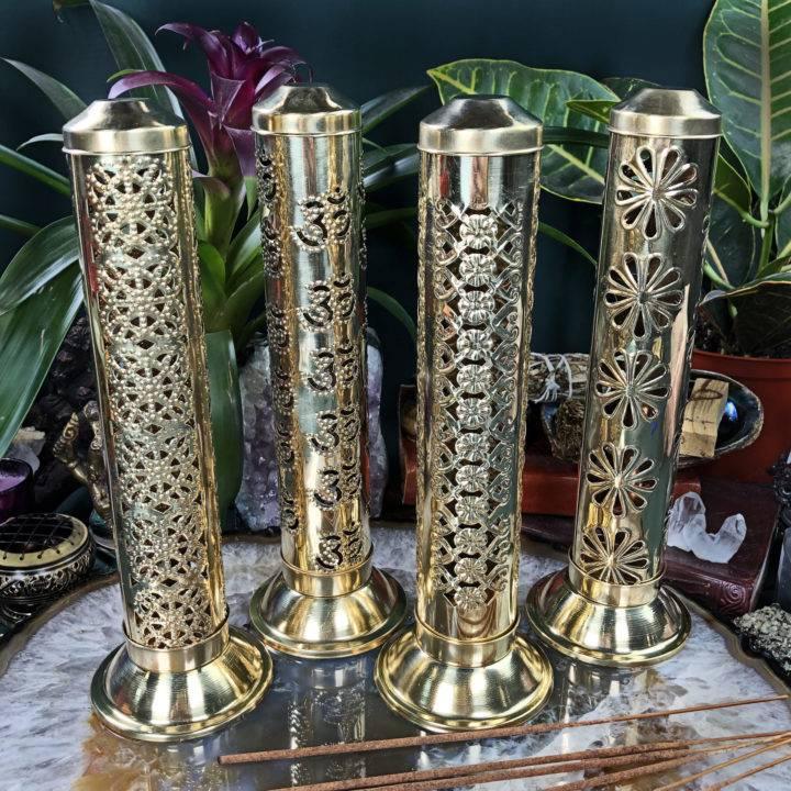 Brass Tower Incense Burner