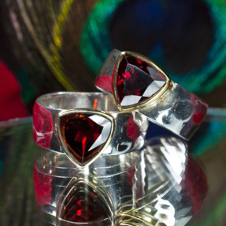 Calming and Grounding Garnet Unisex Ring
