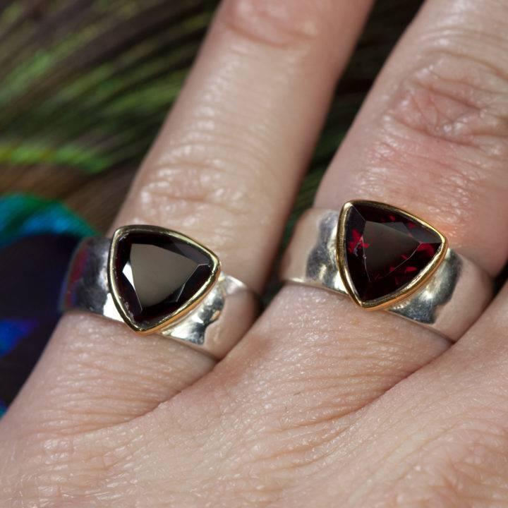 Calming and Grounding Garnet Unisex Ring