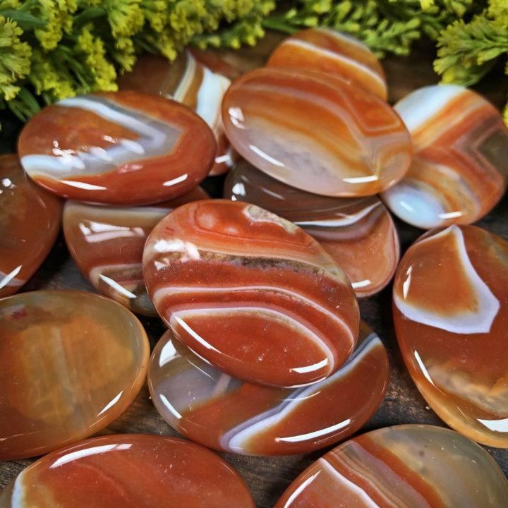 Crystal Caffeine Carnelian Palm Stone