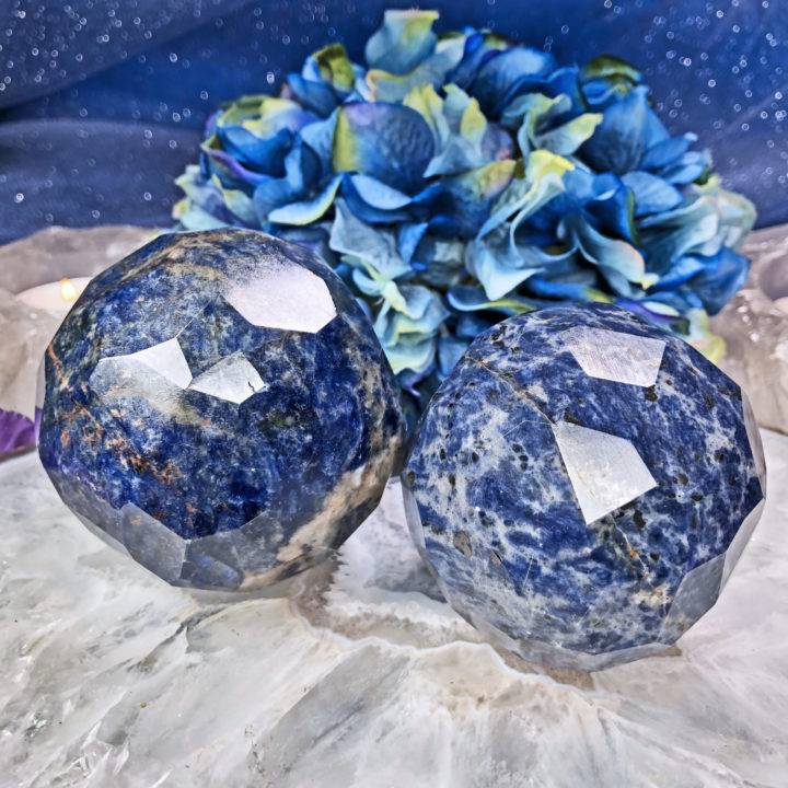Dreamcatcher Sodalite Faceted Sphere
