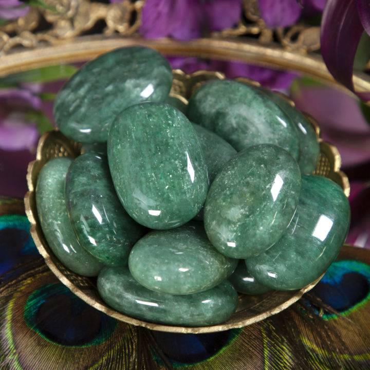 Fuchsite Twin Flame Palm Stone