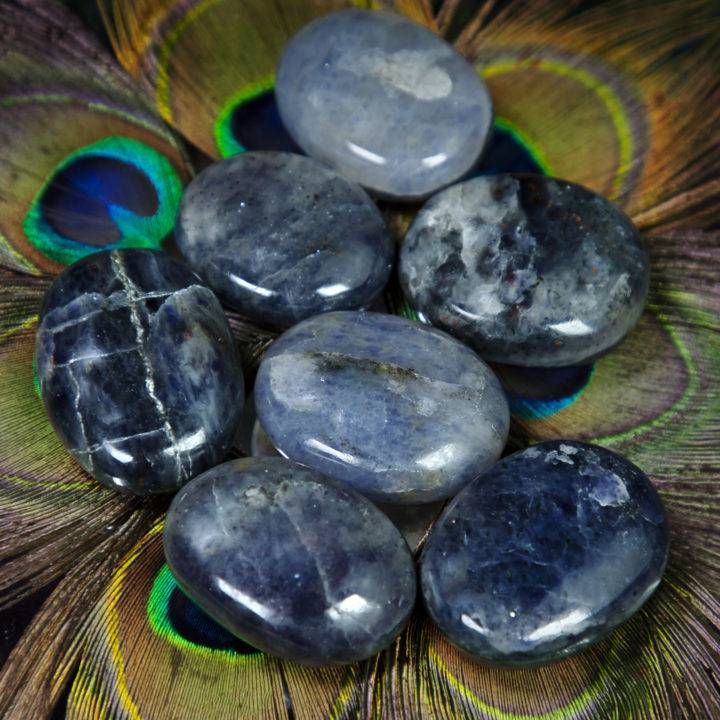Guiding Third Eye Iolite Palm Stone