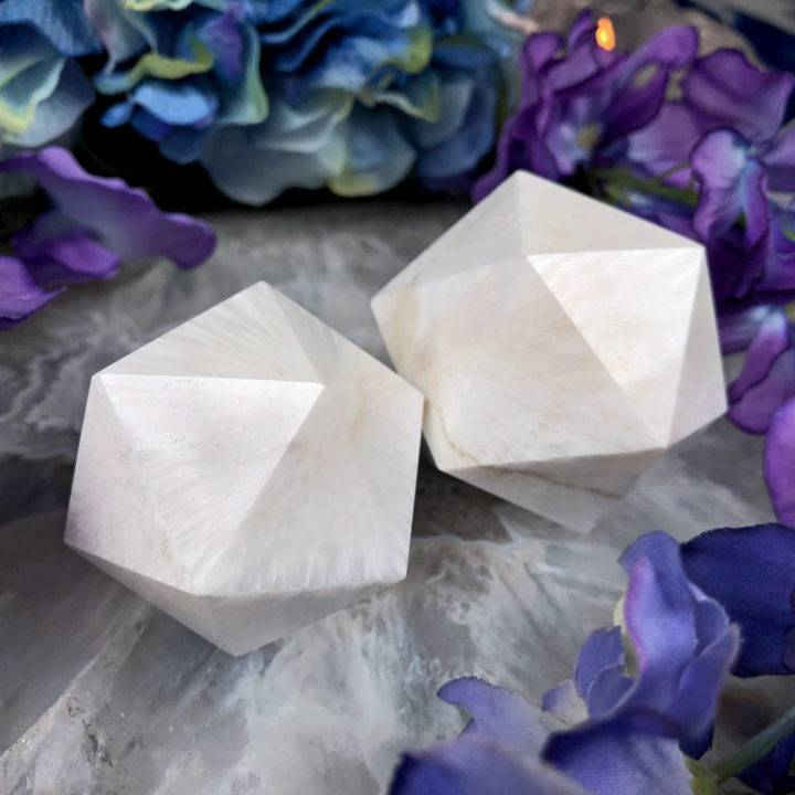 Go with the Flow Scolecite Icosahedron