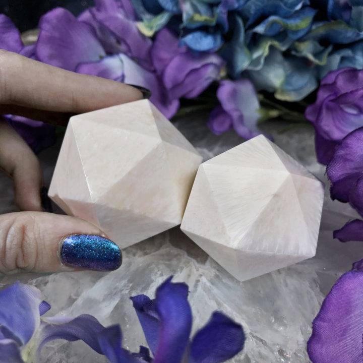 Go with the Flow Scolecite Icosahedron
