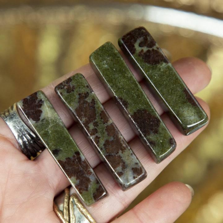 Grounded Healing Garnet in Epidote Bra Stones