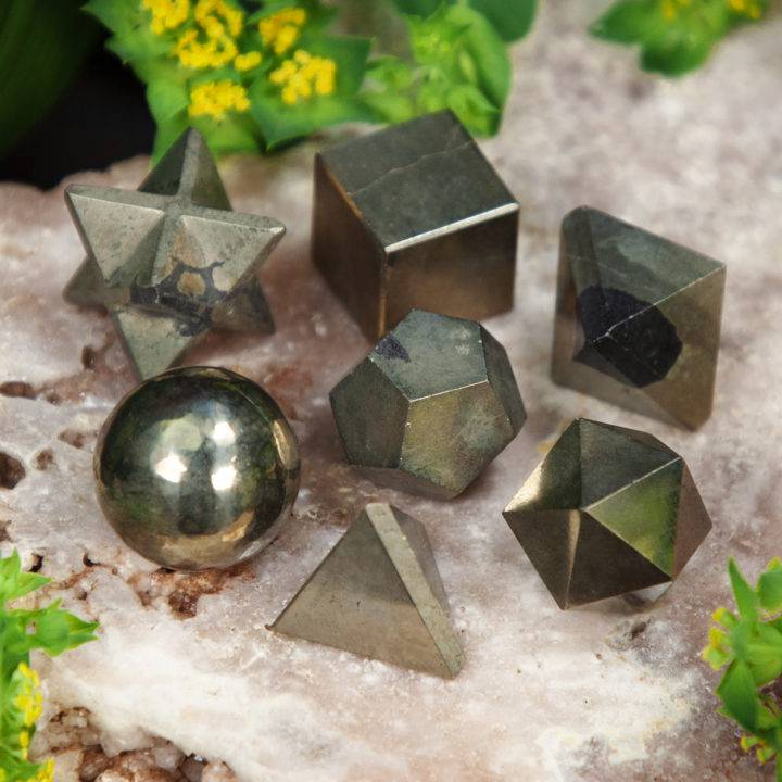 Healers Gold Sacred Geometry Set