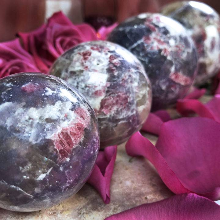 Heal Past Wounds Pegmatite Sphere