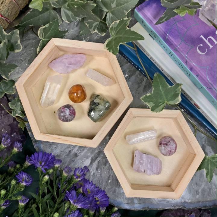 Healing Hexagon Gemstone Tray