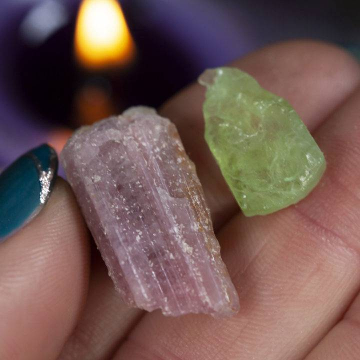 Intuitively Chosen Natural Mixed Tourmaline