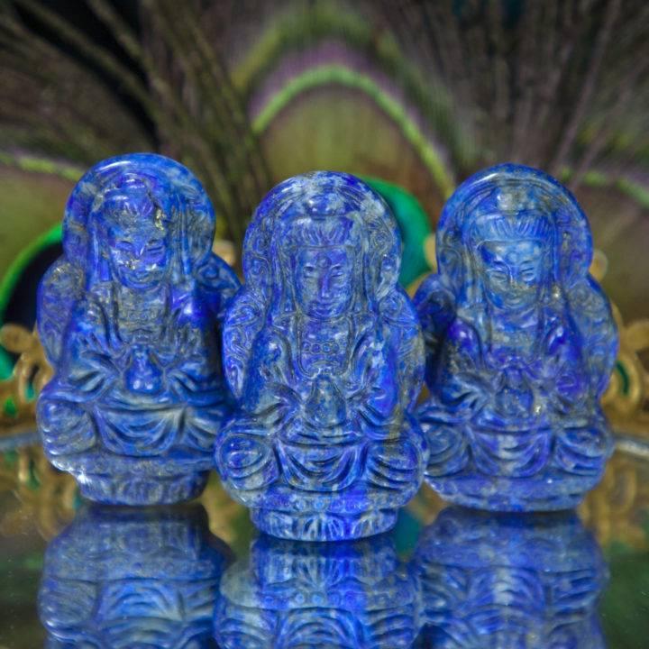 Lapis Lazuli Quan Yin Carving