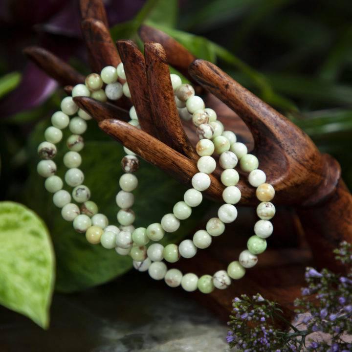 Lemon Chrysoprase Peace, Love, and Understanding Bracelet