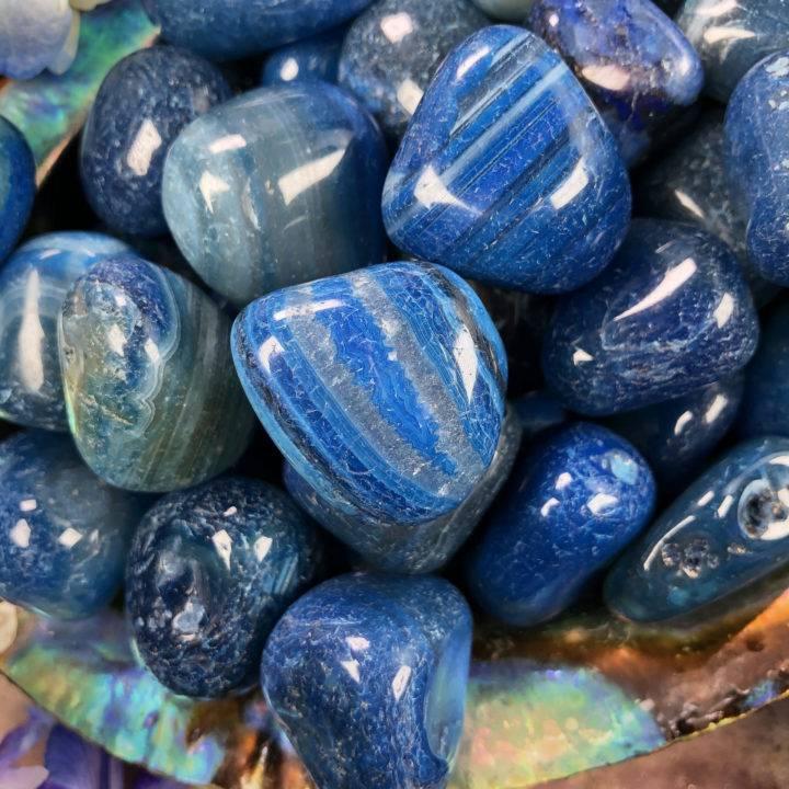 Medium Tumbled Blue Agate