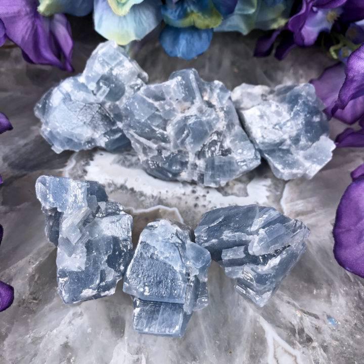 Natural Blue Calcite