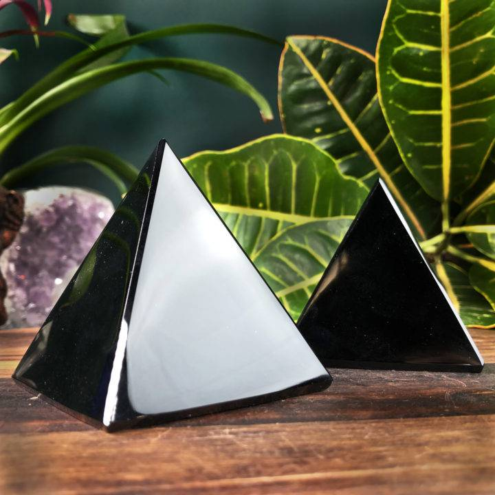 Obsidian Releasing and Protection Pyramid