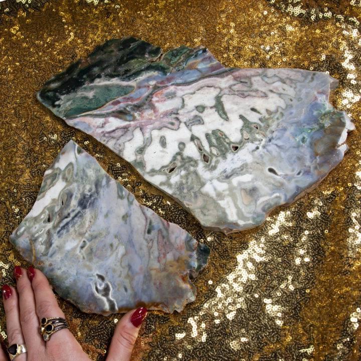 Ocean Jasper Charging Plate