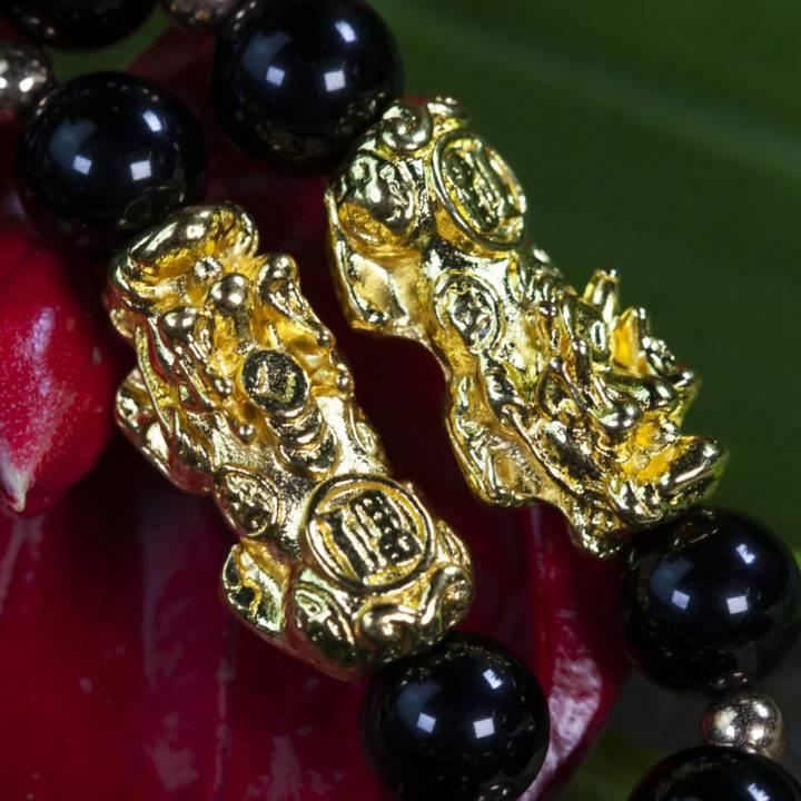 Pixiu Black Obsidian Protection Bracelet
