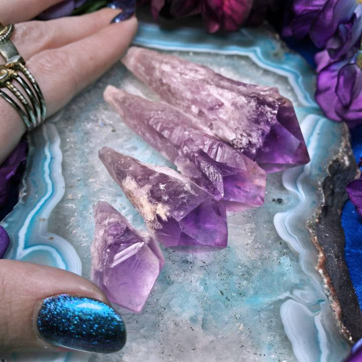 Phantom Amethyst Root Crystal