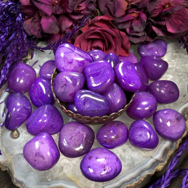 Purple Agate: Large Tumbled