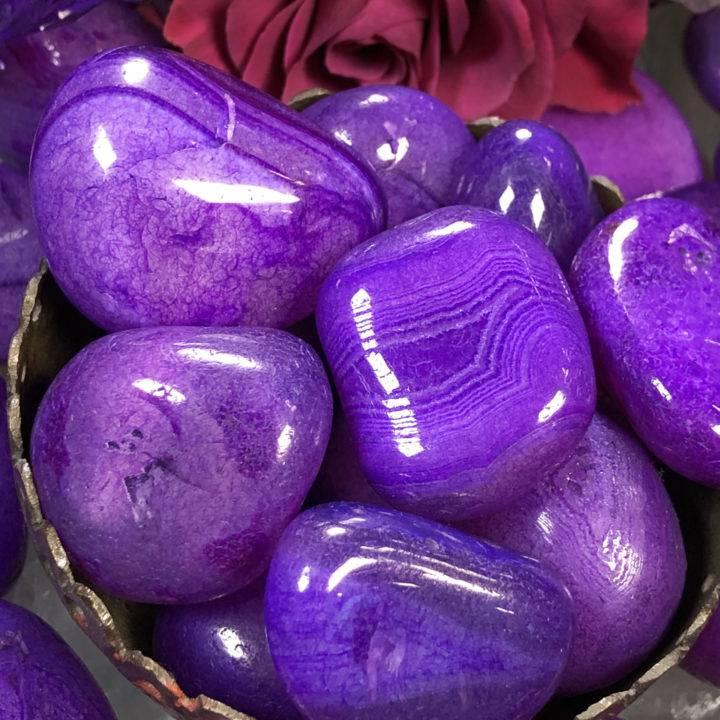 Purple Agate: Large Tumbled