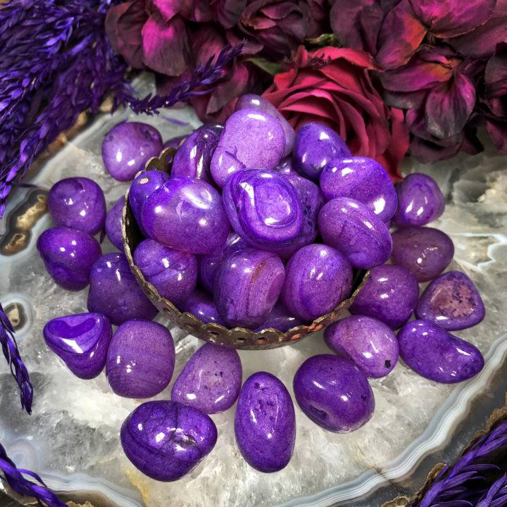 Purple Agate: Medium Tumbled