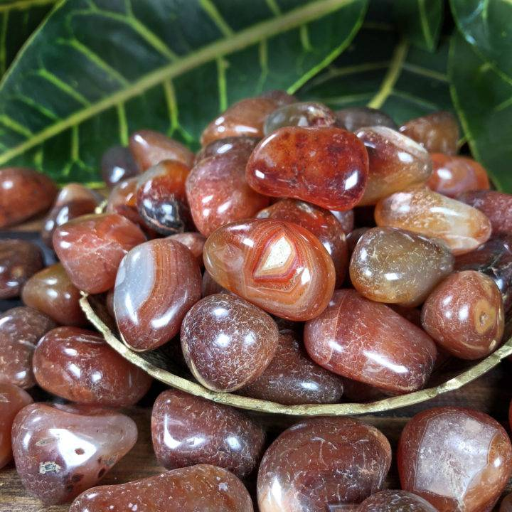 Red Agate: Medium Tumbled