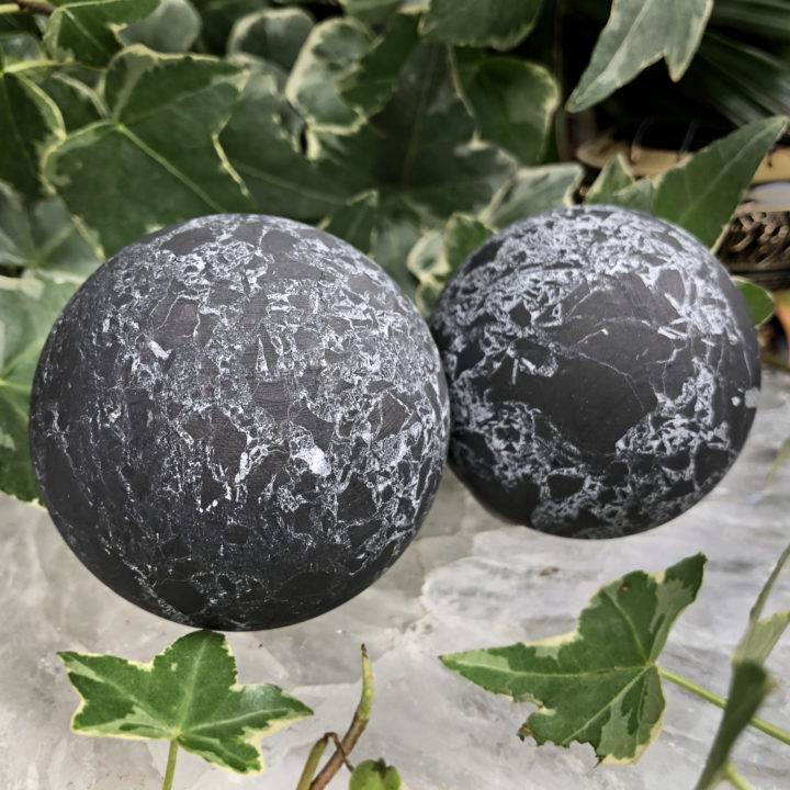 Shungite with Quartz Ultra Purification Sphere