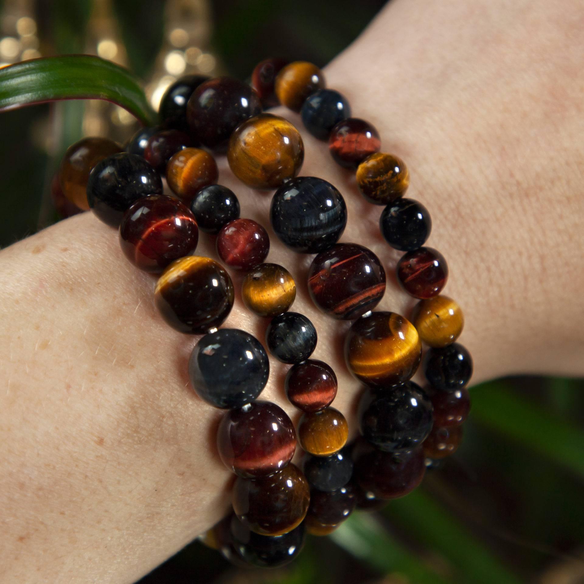 8mm tiger eye bracelet Black onyx bracelet friendship bracelet Women gift leadership good luck stone protection meditation bracelet B272