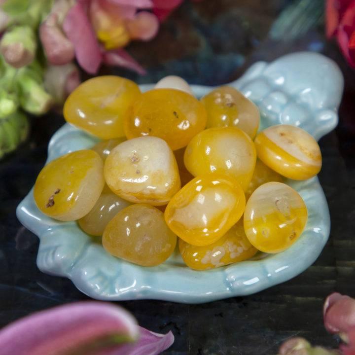 Tumbled Yellow Agate