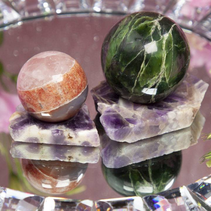 Amethyst Divine Peace Sphere Stand