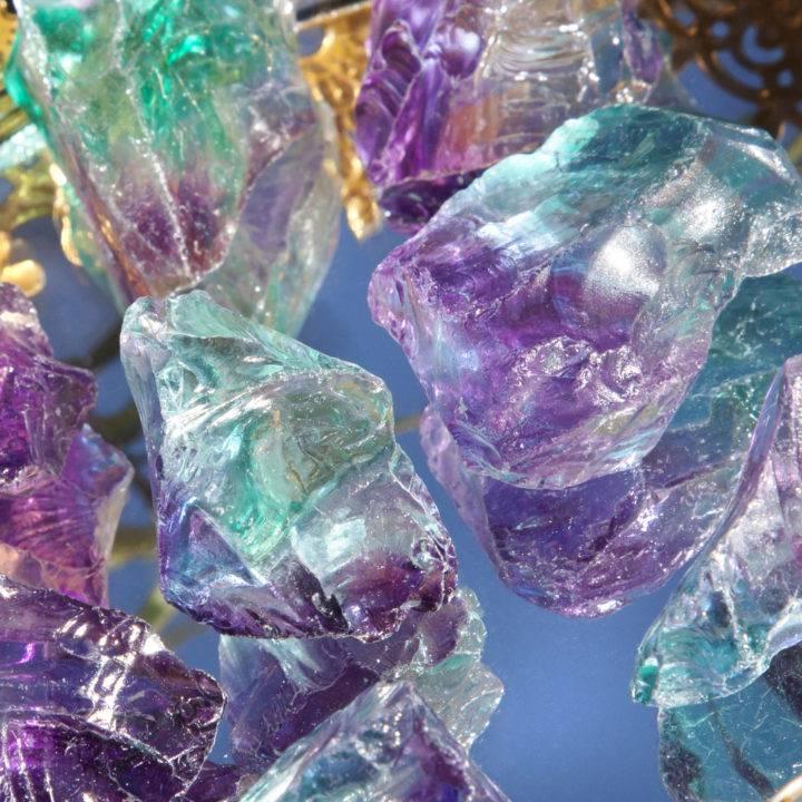 Blue and Purple Aura Quartz
