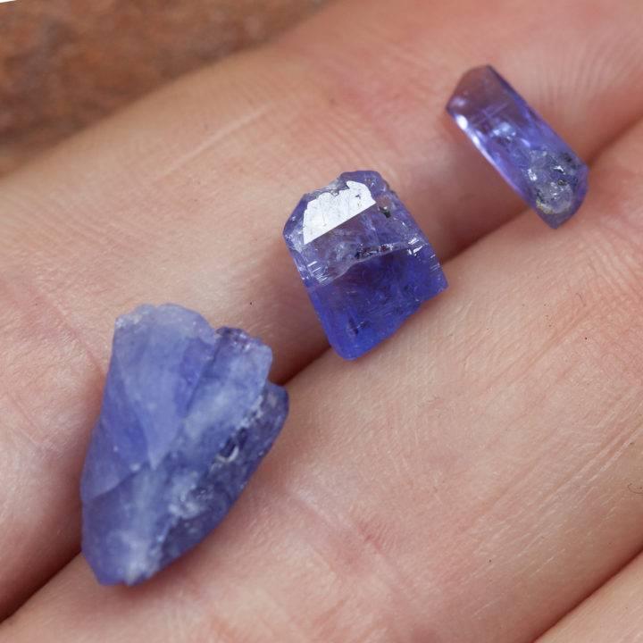 Blue Tanzanite Crystal